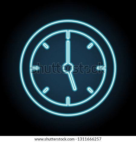 clock, watch, timepiece, timer, timekeeper neon icon. Simple thin line, outline vector of web, minimalistic icons for UI and UX, website or mobile application