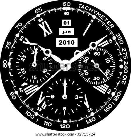 Clock Watch Vector 08