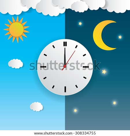 clock with day night concept