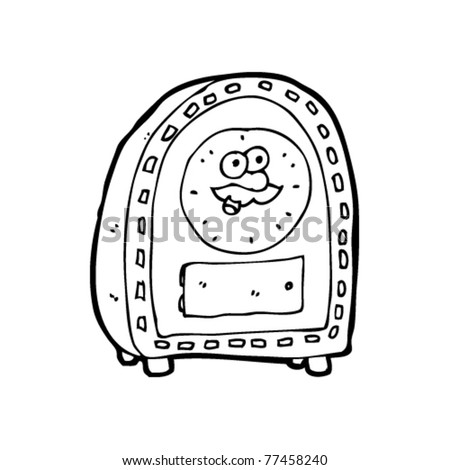 clock with face cartoon