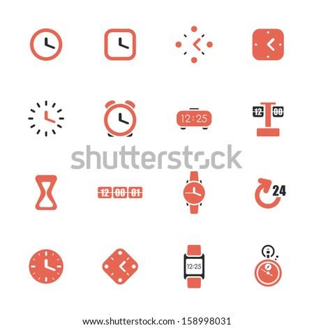 clocks and time theme icon set