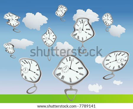 Clocks getting warped by, well, they are just warped, use your imagination:)