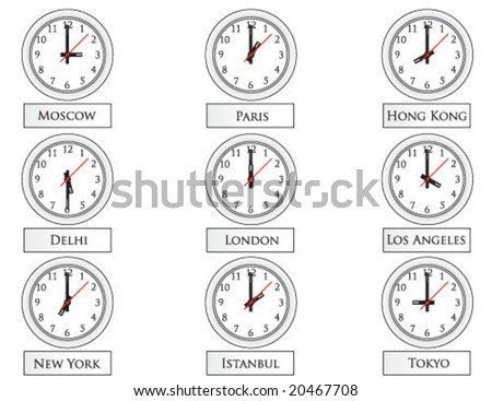 clocks on wall vector