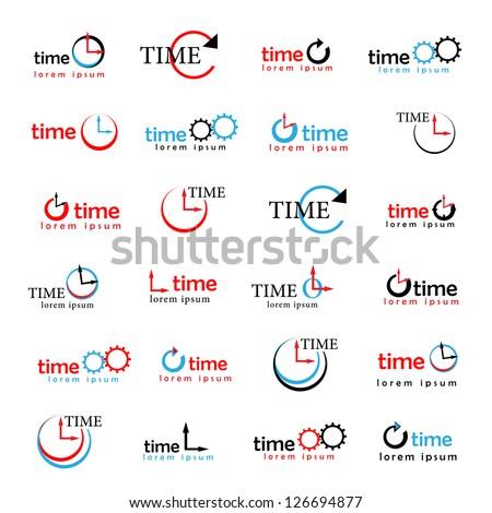 clocks  times symbols isolated