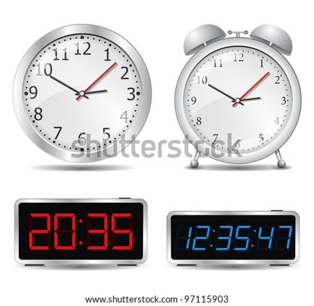 Clocks, vector eps10 illustration - stock vector