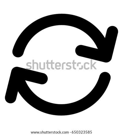 Clockwise Vector Icon