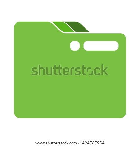 close folder icon. flat illustration of close folder - vector icon. close folder sign symbol