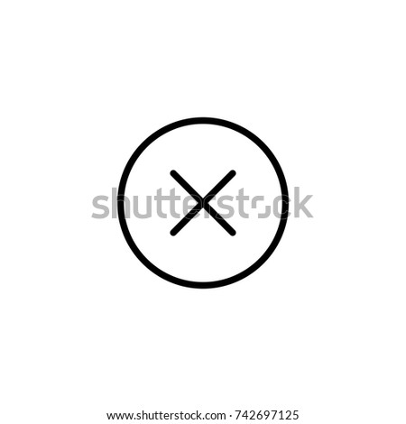 Close icon, Close icon vector, in trendy flat style isolated on white background. Close icon image, Close icon illustration