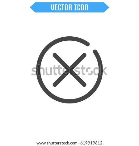 Close icon. Delete icon. Vector sign symbol.