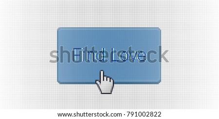 close up hand cursor pointing