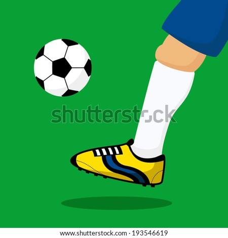 close up leg of soccer player