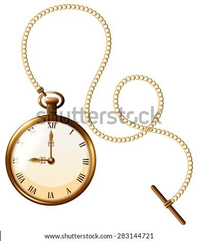Close up luxury design of pocket watch Foto d'archivio ©