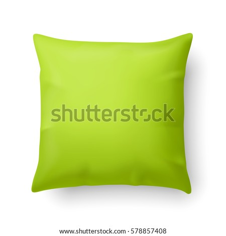 close up of a pillow in lime