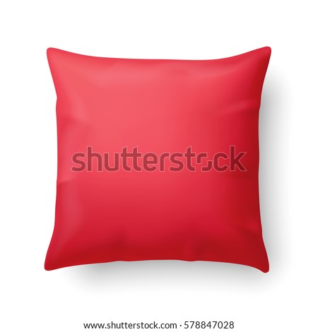 close up of a red pillow