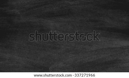 Close up of clean school horizontal chalkboard. Vector grungy texture with chalk rubbed out on black background