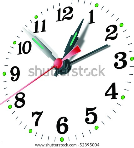 close up of clock face vector