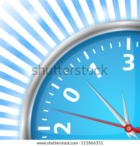 Close-up of clock with number 2013, new year card, vector eps10 illustration