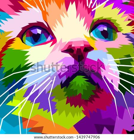 close up of face beautiful cat