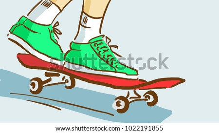 close up of skateboard rider's