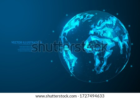 close up view of planet earth