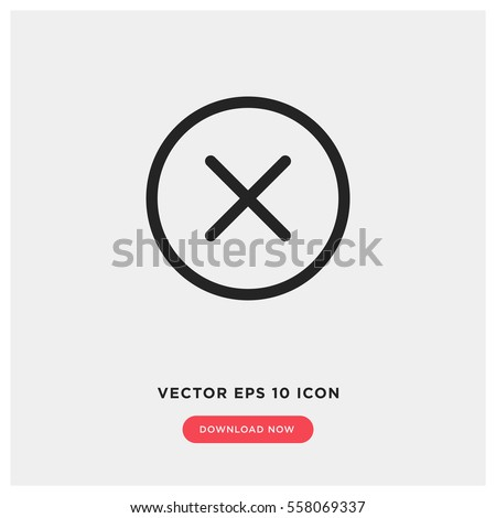 Close vector icon, delete symbol. Modern, simple flat vector illustration for web site or mobile app