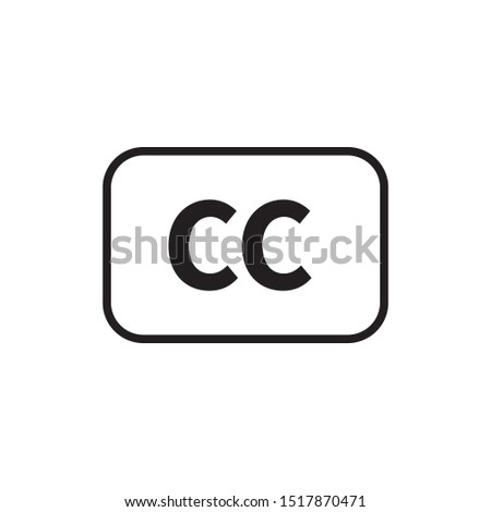 Closed captioning icon vector illustration.