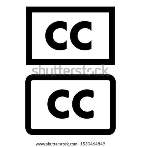 Closed captioning vector icon. cc illustration symbol or sign.