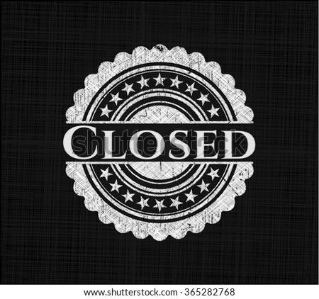 Closed chalk emblem