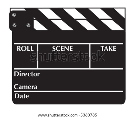 clapper board vector for movie or film download free vector art
