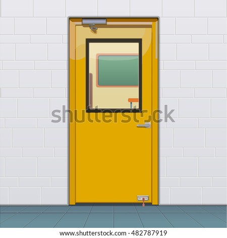 closed classroom door