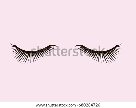 closed eyelashes icon fashion