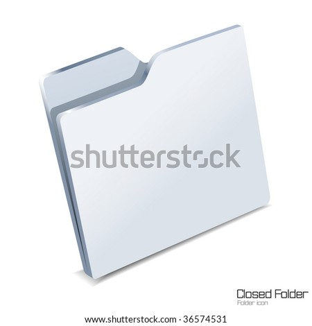 Closed folder icon isolated.Vector illustration.