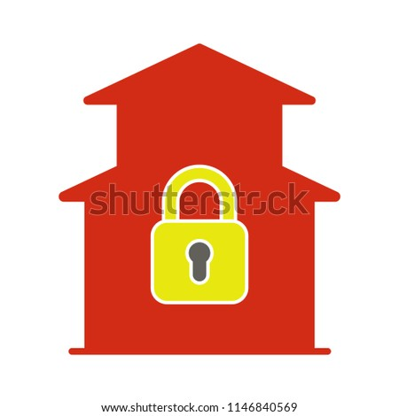 closed house icon - Duplex house flat icon. Real estate object, Duplex isolated on white background for your web and mobile app design, Duplex logo concept