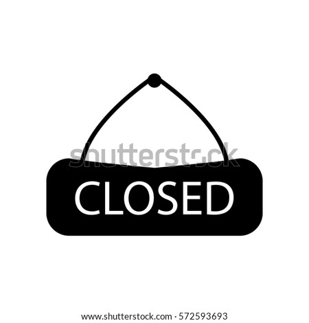 closed icon .Modern flat pictogram, business, marketing, internet concept. Logo illustration