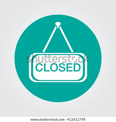closed icon vector  solid