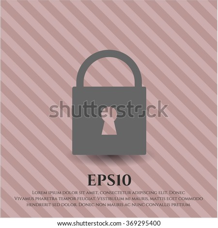 Closed Lock icon vector illustration