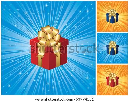 Closed magic Gift box, illustration