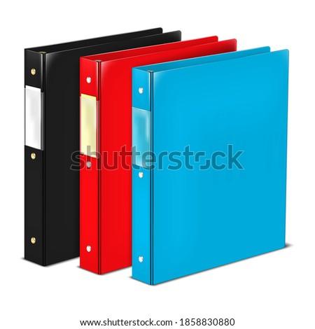 closed ring binder file folder