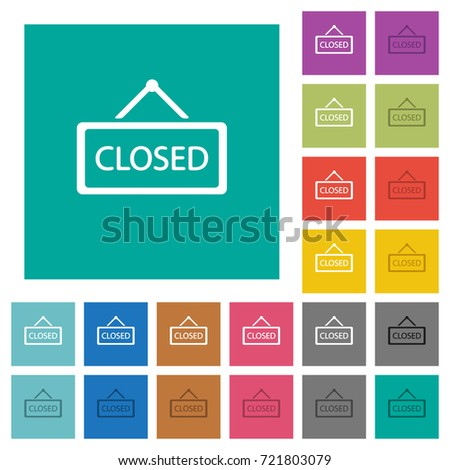 closed sign multi colored flat