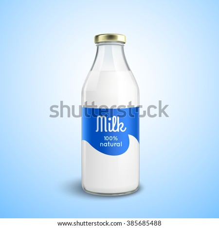 closed traditional glass bottle