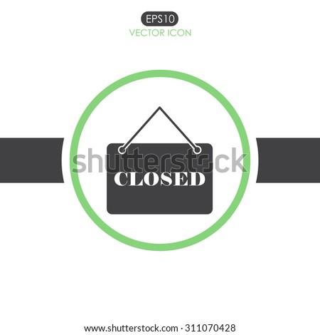 closed vector icon