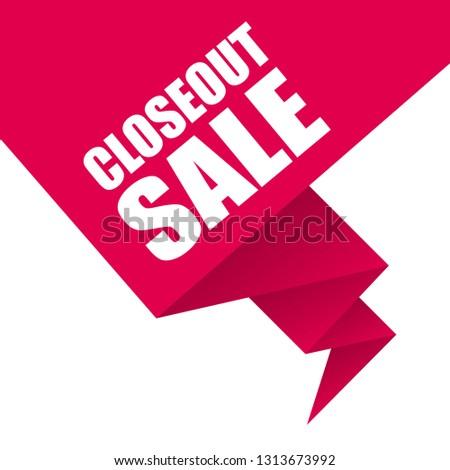 Closeout sale sign,label. Closeout sale speech bubble. Closeout sale tag sign,banner