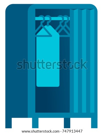 Closet isolated vector illustration