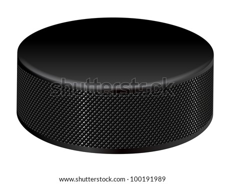 closeup illustration of a detailed hockey puck