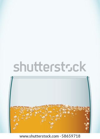 Closeup of a cold beer glass