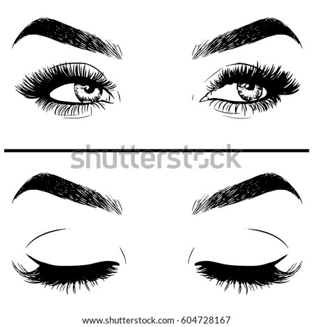 closeup of beautiful woman eye