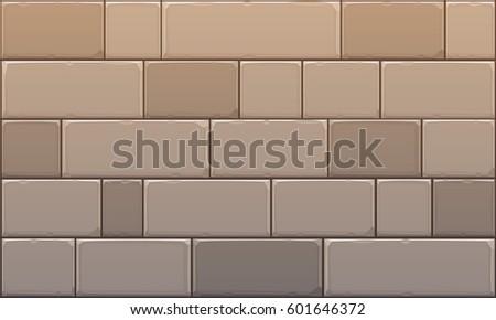 Closeup of stone block wall. Vector illustration.