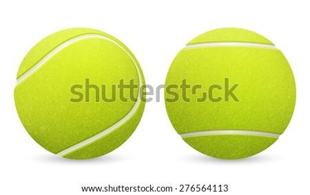 closeup of two vector tennis...