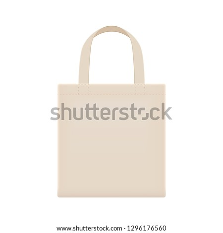 cloth eco bag blank or cotton yarn cloth bags, empty bags isolated on white, fabric cloth eco bag brown empty template for campaign to use bags to reduce waste plastic, eco bag cloth for shopping