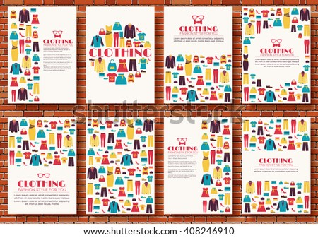 cloth vector shopping icons banners, magazines, flayers, invintation cards concept